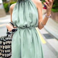 Mint Green Fall Fashion Dress