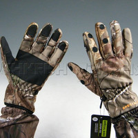 New! XL Bionic Camouflage Mossy Oak Thick Warm Camouflage Camo Fishing Hunting Gloves