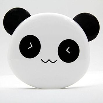 Cute Catoon Panda 6000 mAh Mini Power Bank with cable External Charger for Micro USB Cell Phone
