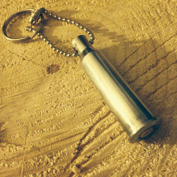 Silver keychain 7.62x54r Russian sniper bullet