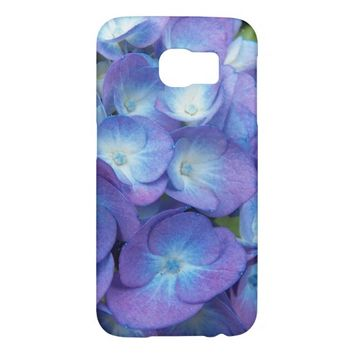 Blue Hydrangea Blossoms Floral Samsung Galaxy S6 Cases