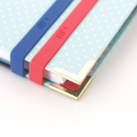 Set of Two Stretchy Bands - Pink & Blue
