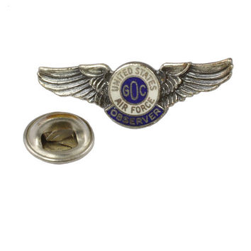 WWII Air Force GOC Observer Wings - Plane Spotters - Ground Observer Corps Pin - WWII Memorabilia - Sweetheart Jewelry - Civil Defense Pin