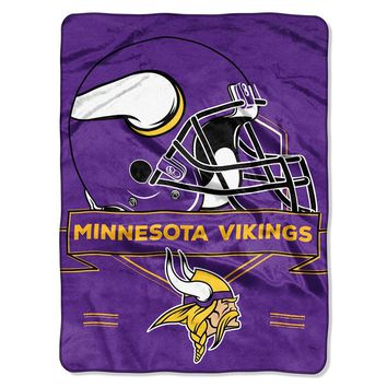 Minnesota Vikings NFL Royal Plush Raschel (Prestige Series)