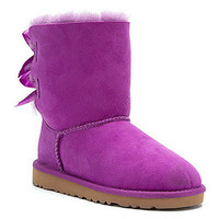 NEW UGG AUSTRALIA Woman's Bailey Bow Electric Violet/Purple Boots (Size 5 & 6)