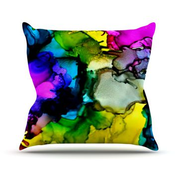 """Claire Day """"A Little Out There"""" Throw Pillow"""