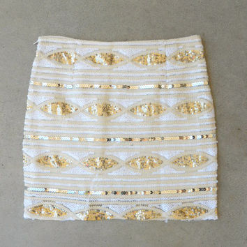 Golden Marquis Sequin Skirt
