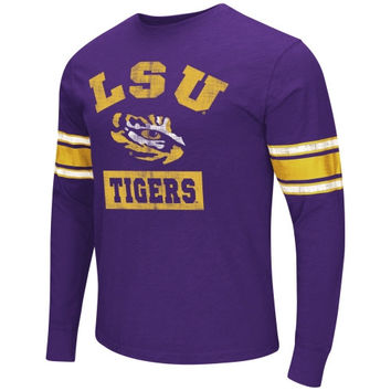 LSU Tigers Meteor Long Sleeve T-Shirt – Purple