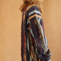 COOGI original 90s GRUNGE thick knit WOVEN nordic sweater