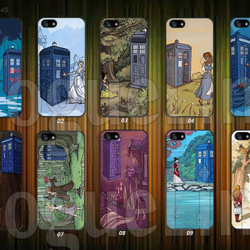 Doctor who Disney princess iPhone 5 case, iPhone 5C Case, iPhone 5S case, iPhone 4S Case, Samsung Galaxy S3, Samsung Galaxy S4--VA245