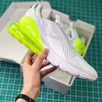 Nike Air Max 270 White Volt Ah8050-104 Sport Running Shoes - Best Online Sale