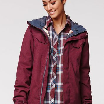 Volcom Wing Insulated Jacket - Womens Sweaters - Red - Large