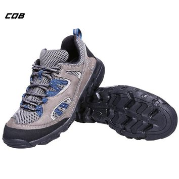 CQB Outdoor Sports Shoes Men Tactical Hiking Military Shoes Scrub Leather Lightweight  Fishing Trekking Climbing Shoes