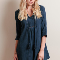 Singing The Blues Textured Dress