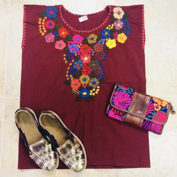 Mexican Embroidered Bouquet Blouse
