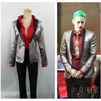 Suicide Squad Jared Leto Batman Joker Cosplay Costume