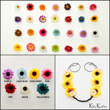 Customizable Daisy Rave Flower Crown, Coachella Crown, Electric Daisy Carnival, Ultra Music Festival, Lollapalooza, Electric Forest, PLUR