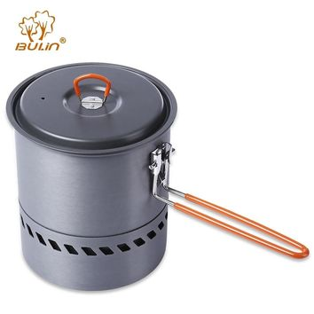 BULin Portable Aluminum Outdoor Pot Pan Cookware Camping Pots And Pans Set Hiking Picnic Backpacking Tableware Heating Kettle