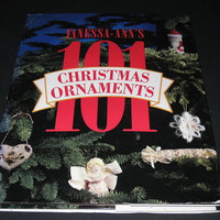 Vintage Craft Book, Christmas Crafts, Vanessa Ann's 101 Christmas Ornaments, Hardcover book, Christmas Book, Crafting Book