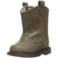 Baby Deer Distressed Faux Leather Cowboy, Western Boots