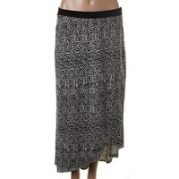 NY Collection Womens Petites Matte Jersey Hi-Low Tulip Skirt