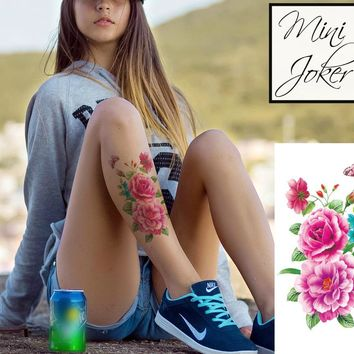 Mini Joker | Awesome Tattoos Roses Tattoo With Leaves