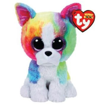 "Pyoopeo Ty Beanie Boos 6"" 15cm Isla the Bulldog Plush Regular Stuffed Animal Collectible Puppy Dog Doll Toy"