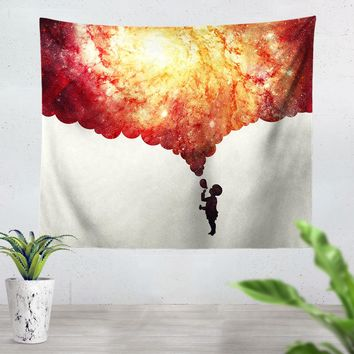 Painting The Universe Red Tapestry