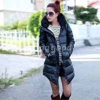 New Korean Winter Thicken Long Sleeve Warm Hooded Jacket Coat Women Outerwear Free Shipping!  - US$34.15