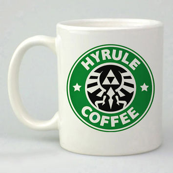 Hyrule Coffee the legends of zelda design for mug, ceramic, awesome, good,amazing