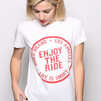 Enjoy The Ride Women's Cut T-shirt White