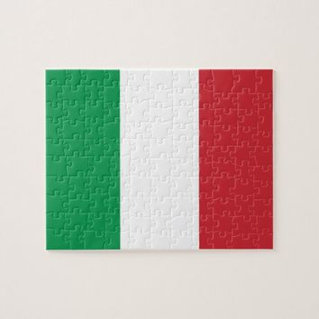 Puzzle with Flag of Italy
