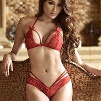 DCCK8H2 Sexy Underwear Women Lace Bralette Bra Brief Set Intimate Sexy Lingerie Lace