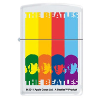 Zippo 8093 Classic White Matte The Beatles Windproof Pocket Lighter