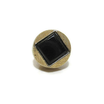 Vintage Swank Tie Tack Gold Tone and Black