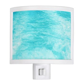 Turquoise Blue Water with Waves and Splashes Night Lite