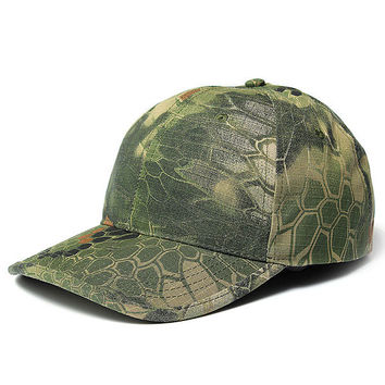 Men's Camo Cap Adjustable Military Hunting Fishing Army Hiking Baseball Hat