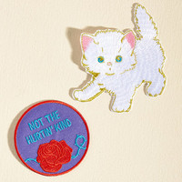 Aesthetic Attitude Patch Set | Mod Retro Vintage Pins | ModCloth.com