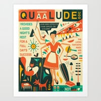 Q IS FOR QUAALUDE Art Print by Jazzberry Blue