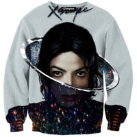 Michael Jackson Xscape Galaxy Crewneck