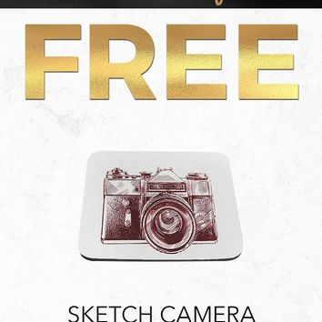Black Friday 2018 Free SC327 Vintage Sketch Camera Art Computer Mousepad Gift With Purchase