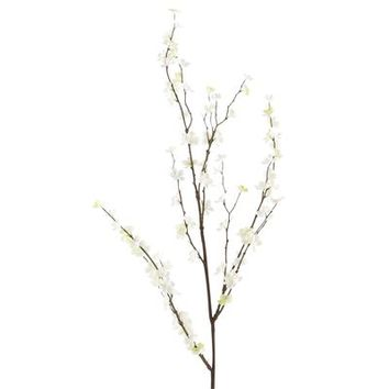 Faux Cherry Blossom Branch - White