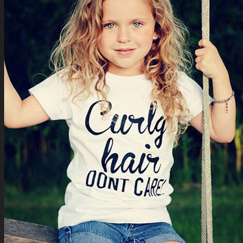 100% Cotton Girls Kids Baby Toddler Casual Short Sleeve Tops T-shirt Tee Clothes Letter print