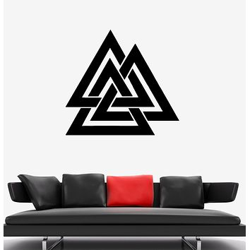 Wall Decal Pattern Geometric Shape Illusion Triangle Vinyl Sticker (ed1345)
