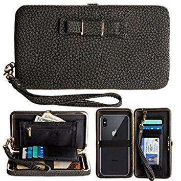 Women Phone Clutch Wallet, TraderPlus Multi-purpose Long Style Leather Clutch Handbag Bow-Knot Purse Cellphone Case for iPhone X/ 8/ 8 Plus/ 7/ 7 Plus/ Galaxy S8/ S7/ S7 edge