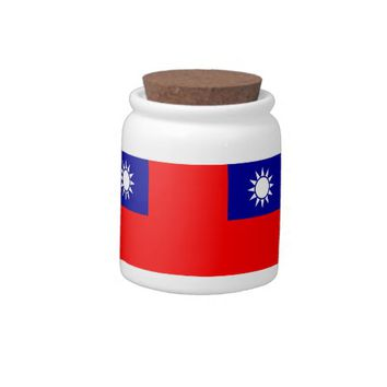 Taiwan Flag Candy Jar