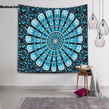 Babaite Colorful Mandala Tapestry Psychedelic Wall Hanging Throw Bohemian Door Curtain Yoga Mat Beach Towel Home Room Wall Art