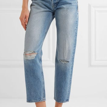 FRAME - Rigid Re-Release Le Original distressed high-rise straight-leg jeans