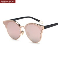 Peekaboo high quality luxury brand designer sun glasses for women men 2017 pink green trendy sunglasses luxury ladies uv400