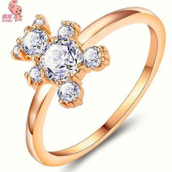 Woman's Engagement Fine Ring